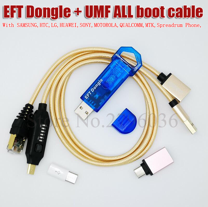 2020 Newest 100% Original EASY FIRMWARE TEMA / EFT DONGLE + UMF All Boot Cable Free Shipping