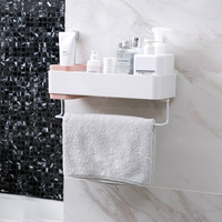 Punch free bathroom shelf bathroom supplies wash rack toilet wall hanging towel shelf storage rack