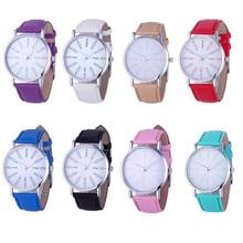 Womens Quartz Watches Clocks 1 PC PU Leather Strap Analog Wrist Watch Fashion English Number Female Watch Brands Wholesale 40M16