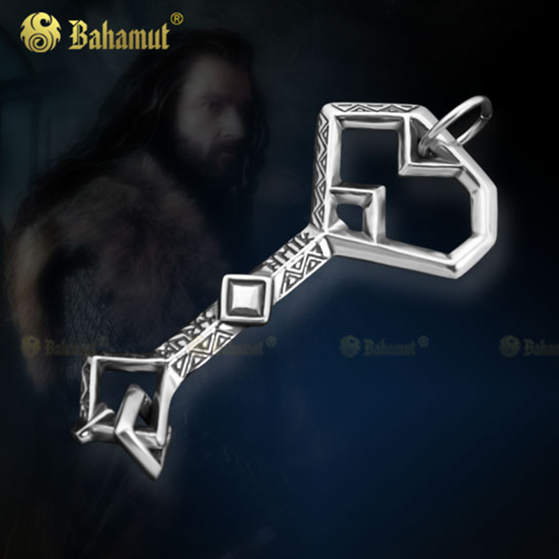 Movie Jewelry Necklace Lotr Key Necklace 925 Silver Pendant Jewelry for Men Women Cosplay Gift boeycjr yoga jewelry meditation wood necklace chain handmade jewelry ethnic pendant necklace for men and women gift 2018