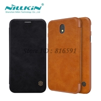 Flip Case For Samsung Galaxy J5 2017 J530 J530F Nillkin Qin Series Cover PU Leather Cover