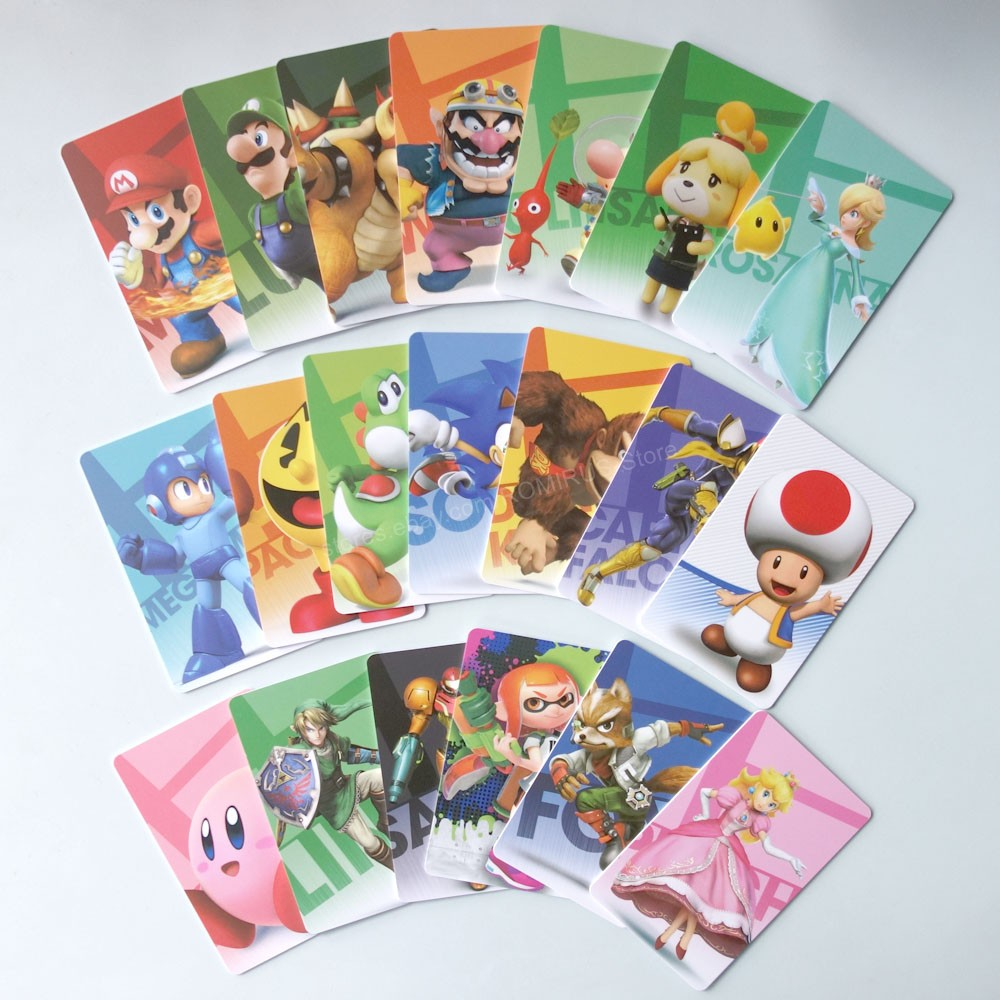 20Pcs/set Mario Kart 8 Deluxe NFC Tag Cards Set - Super Smash Brothers For NS Switch