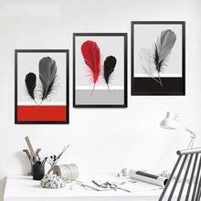 Feather Wall Art Poster Decor Painting Fashion Modern Paintings Canvas Art Print Poster For Room HD2216 постер poster art 50305025 мдф