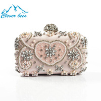 Women Evening Bags Ladies Clutches Purse Silver Gold Sale Price Crystal Wedding Party Bridal Bag Europe