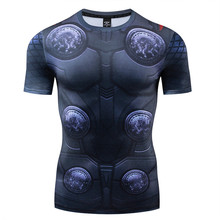 Men Marvel 3D Tshirts Avengers Thor Odinson Compression Shirt Fitness T-Shirt Short Sleeve Cosplay Costume Mens Tshirt