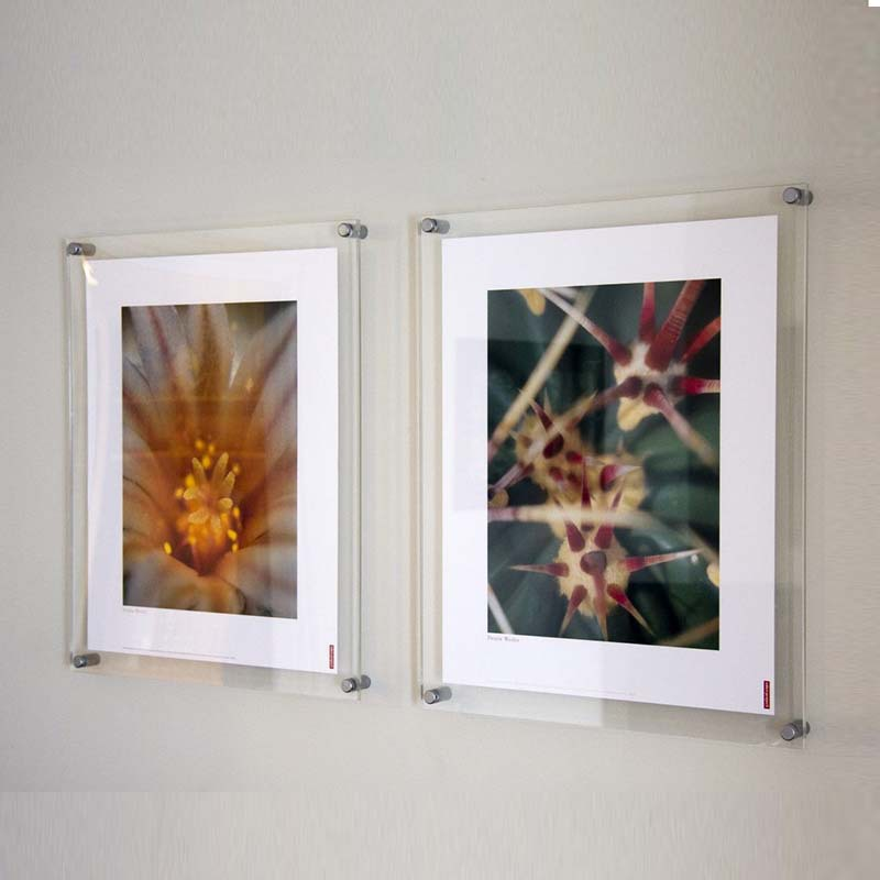 gt4159 8inch transparent wall mounted acrylic photopictureposter frame display factory accept customized design