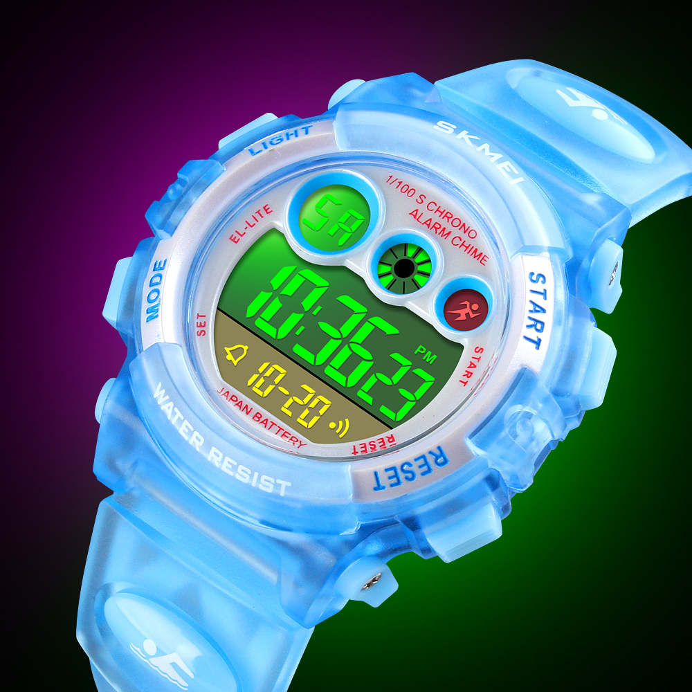 <font><b>SKMEI</b></font> Children Watch Boys Waterproof Colorful LED Digital Sports Watches Kids Student Alarm Watch for Girl Gift Reloj Deportivo image