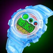 SKMEI Children Watch Boys Waterproof Colorful LED Digital Sports Watches Kids Student Alarm Watch for Girl Gift Reloj Deportivo