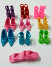 10pairs/lot Doll Accessories Shoes Slippers Heels Sandals Boots For Barbie Dolls Best Gift For Girl Baby Toys Free Shipping