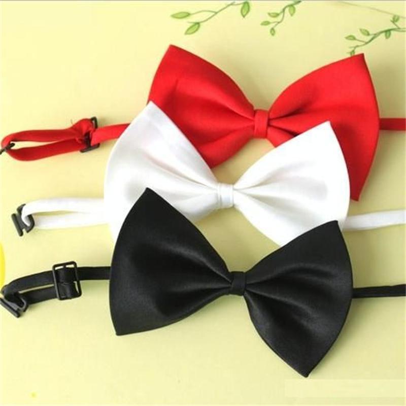 Ausverkauf Fliege Krawatte billige Fliege Kinder einfarbig Polyester Haustier Hund Fliege Mode Fliege Knoten Herren Accessoires
