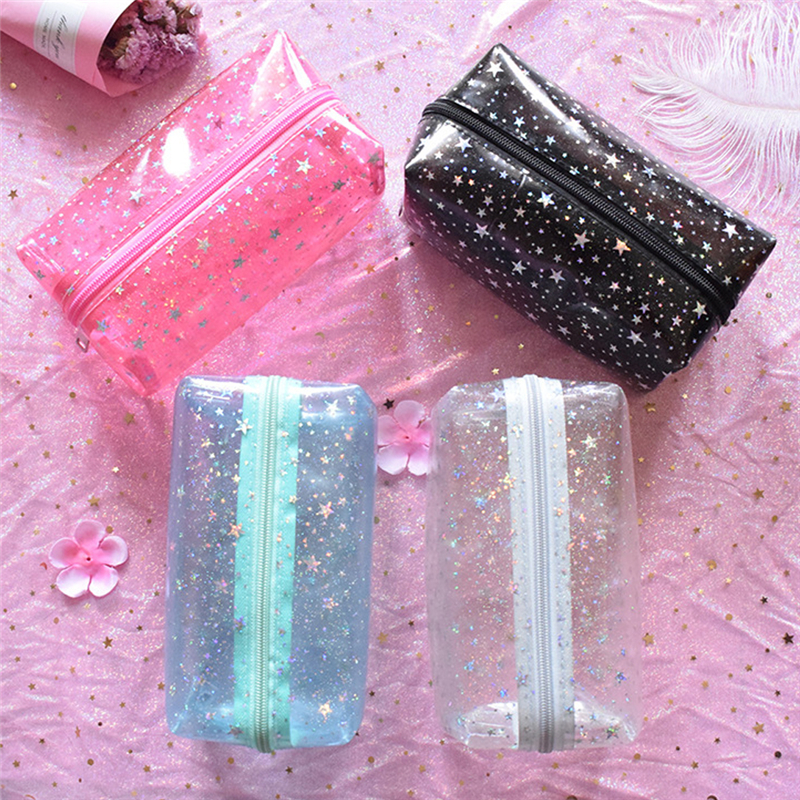 2019 Newest Travel Transparent Cosmetic Bag Wash Pouch Beauty Storage Case Toiletry Bag Women PVC Small Makeup Bags
