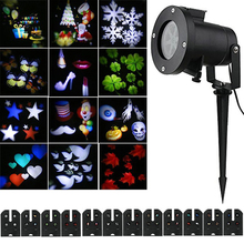12 Pattern Lens Switchable Waterproof Christmas Laser Projector Lamps Outdoor Garden Halloween Party Landscape projector lights