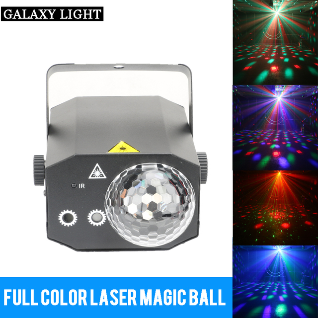 Stage Effect Lighting with Portable Music remote control  LED RGBW RG Laser for Club Disco DJ Party Bar KTV Wedding Christmas