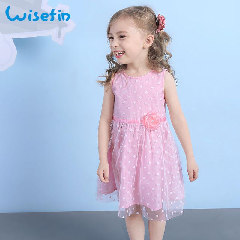Wisefin vestido flor chica del verano lentejuelas amarillo niños ...