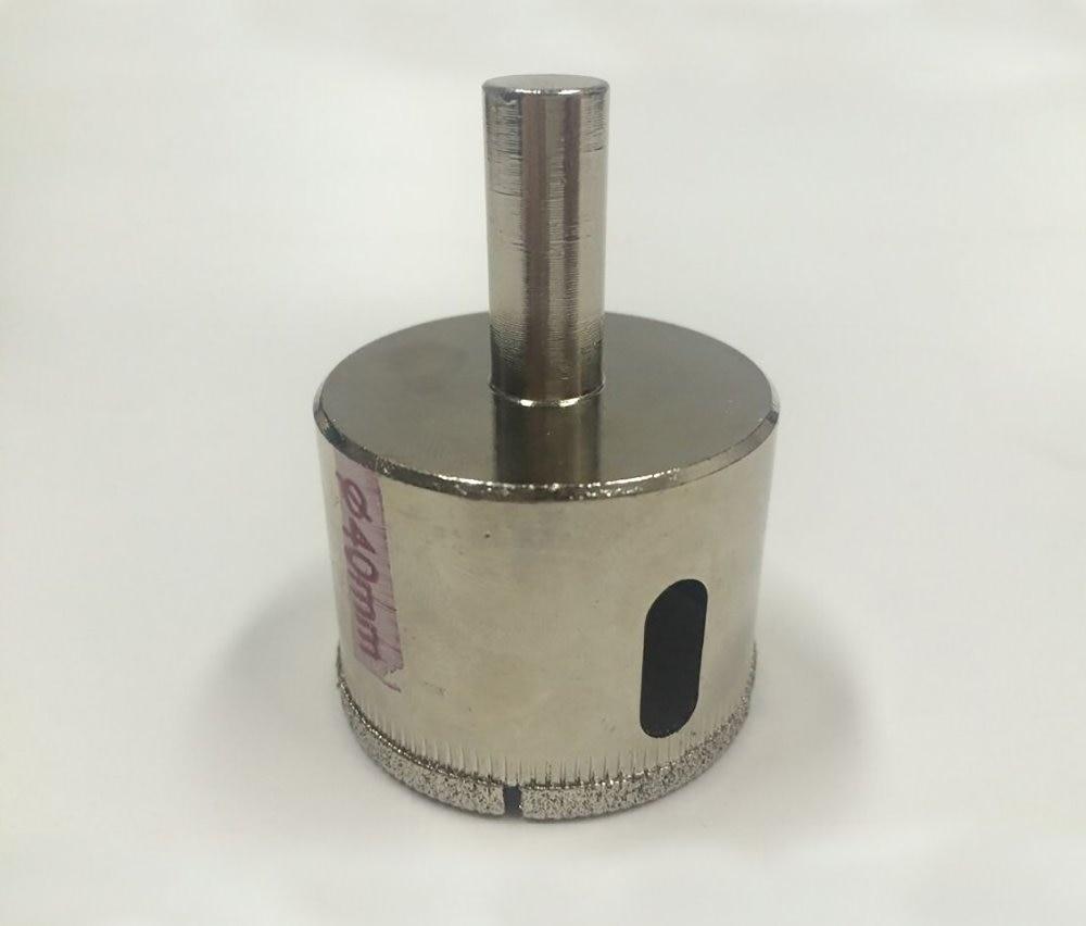 40mm Diamond Coated Drill Bit Glass Metal Hole Saw Diameter Installation Wood Metal Plastic Cutting 6mm drill bit 145mm cutting diameter