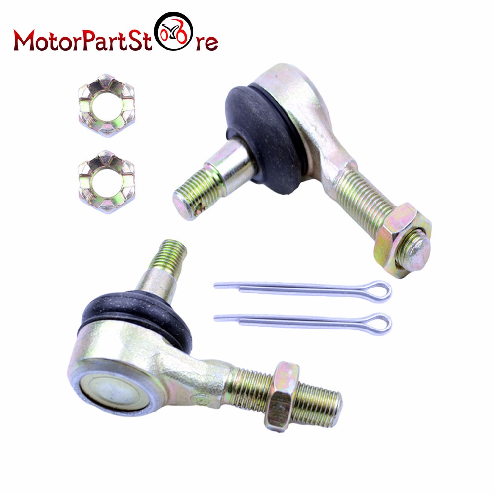 10-10mm Left and Right Hand Tie Rod Ball Joint for ATV Dirt Bike Go Kart Moped Scooter