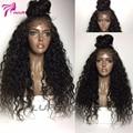130 Densidad Rizado Rizado Peluca Llena Del cordón del Pelo Humano pelucas delanteras brasileño Afro Rizado Rizado Encaje Completo Pelucas de Cabello Humano Para Negro mujeres