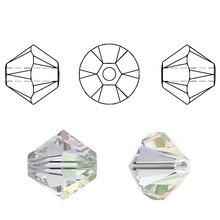 """לקנות 1 ולקבל 1 משלוח סה""""כ 200 יחידות צבעוני 4 מ""""מ Bicone חרוזי קריסטל זכוכית חרוזים Loose Spacer חרוזים צמיד תכשיטי ביצוע DIY"""