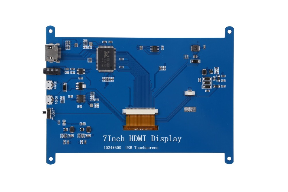 Image 5 - New 7 inch 1024x600 USB HDMI LCD Display Monitor Capacitive Touch Screen Holder Case For Raspberry Pi 3 B+ 3B Plus-in Demo Board Accessories from Computer & Office