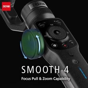 Image 2 - Zhiyun lisse 4 Smartphone tenu dans la main 3 axes sans brosse stabilisateur de cardan pour iphone 5/6/7 X pour gopro action camera pk osmo 2