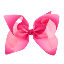 купить 150pcs DHL  Free shipping Jojo Siwa Large Pink and White Ombre Signature Hair Bow по цене 9595.61 рублей