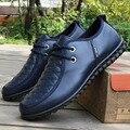2017 Zapatos Del Otoño Del Resorte de Los Hombres Zapatos de Cuero de Moda de Ocio Viento Británico de Los Hombres de Conducción Guisantes Zapatos de Los Hombres de Negocios Zapatos casuales