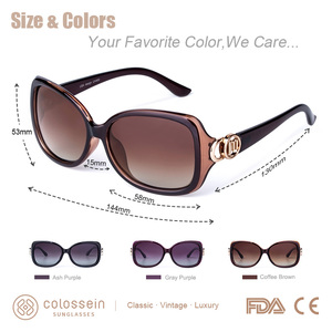 Image 5 - Colossein Mstar Zonnebril Vrouwen Gepolariseerde Luxe Ronde Metalen Scharnier Zonnebril Geleidelijke Licht Zachte Klassieke Brillen UV400