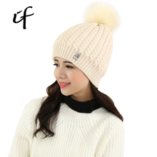 Solid Stickers wool ball Shoe Knitted Hat Women Autumn Winter Hat For Women's girl Hats Warm Skullies Beanies Female Gorros Caps