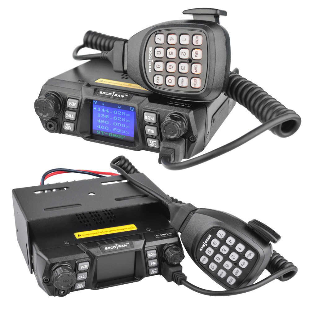 Mobile Ham Radio Transceiver VHF 75W UHF 55W High Power Mobile Car Radio Dual Band Quad Standby Vehicle Transceiver Station-in Walkie Talkie from Cellphones & Telecommunications