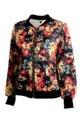 Longo-luva das mulheres jaqueta curta primavera e outono jaquetas com zíper casaco feminino outwear roupas da mulher vermelho S