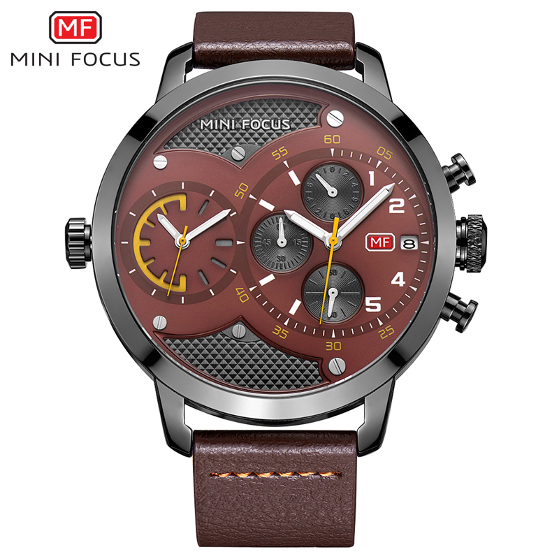 Top luxury Brand MINIFOCUS Sport Watches Men's Quartz Chronograph Military Big Dial Wrist Watch Men Clock Male Relogio Masculino fashion male watches men top famous brand gold wrist watch leather band quartz casual big dial clock relogio masculino hodinky36