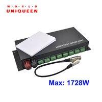 Многоканальный 3CH * 8 Путь (24 канал), DC12 24V светодиодный rgb dmx 512 Декодер контроллер для светодиодный rgb лампы полосы света, розничная продажа