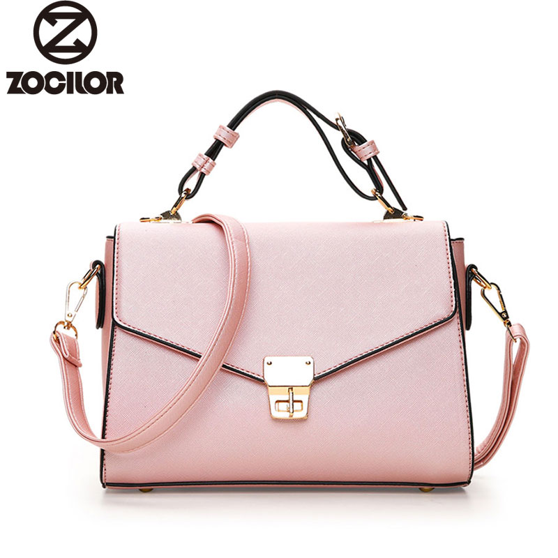Women Bag Fashion Messenger Bags Female Designer lock bag Leather Handbags High Quality Famous Brands Clutch bolsos sac a main 2017 new fashion female handbags famous brands sac women messenger bags women s pouch bolsas purse bag ladies leather portfolio
