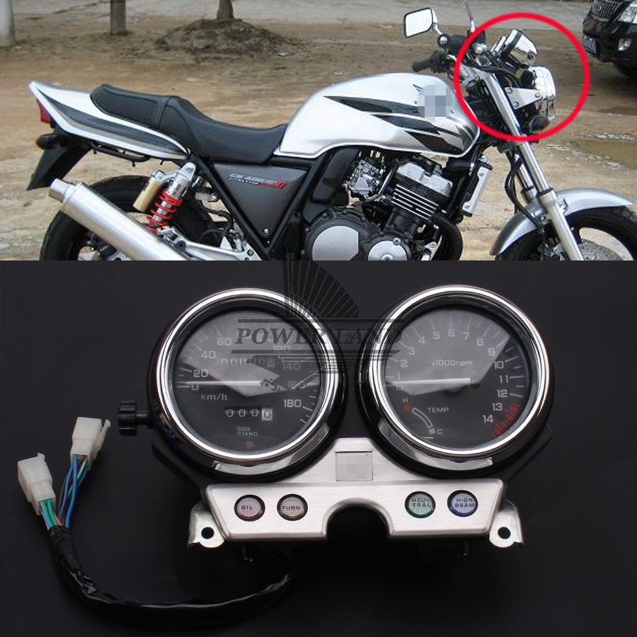 Motorcycle Gauges Cluster Speedometer Tachometer Meter Odometer Instrument Assembly For Honda CB400 CB400SF MC31 1992-1994 for kawasaki ninja 300 ex300a 2013 2015 motorcycle oem gauges cluster speedometer speedo tachometer instrument