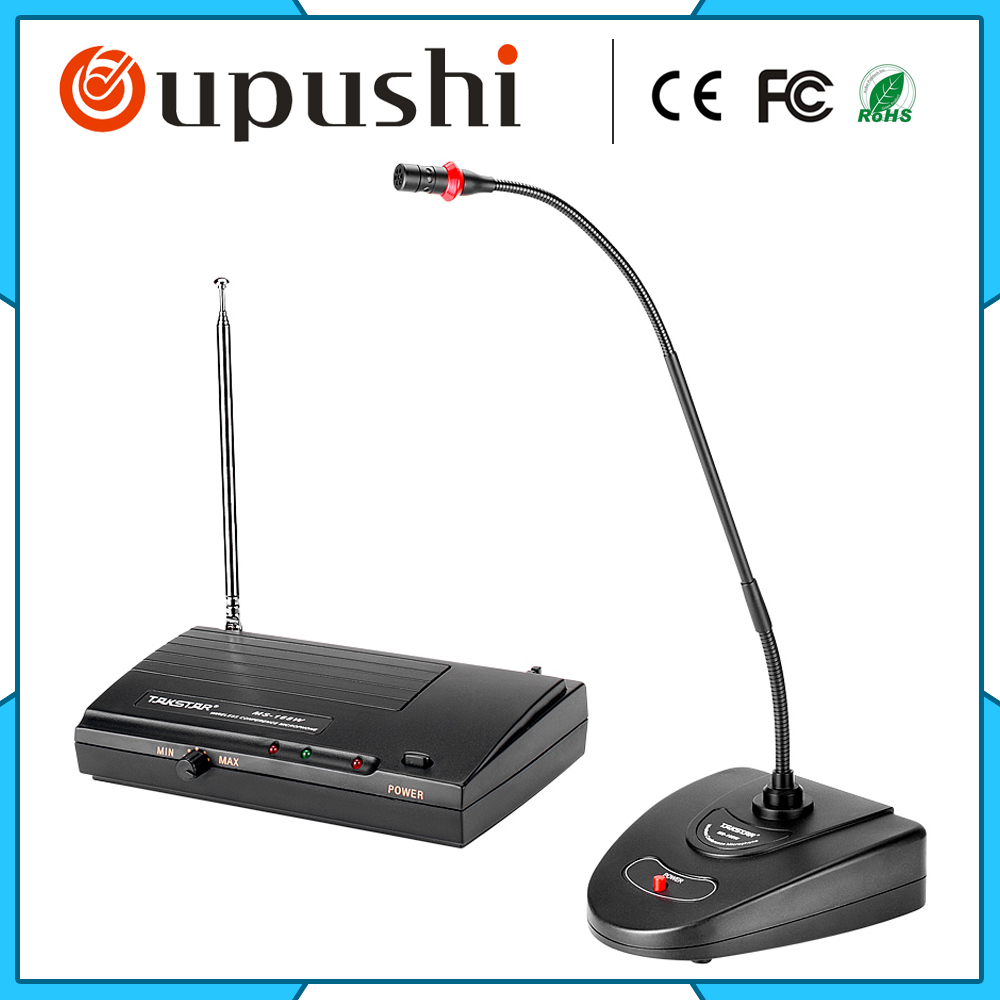 Wifi Table Mic System Wireless Microphone Stand new restaurant equipment wireless buzzer calling system 25pcs table bell with 4 waiter pager receiver