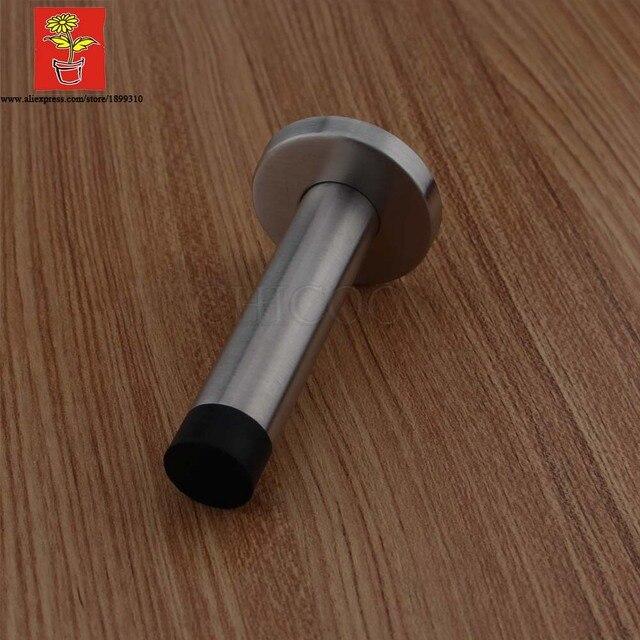 CHICOO Modern Minimalist Stainless Steel Door Stop Wall Rubber Door Stop Safety Door Handle Holder & CHICOO Modern Minimalist Stainless Steel Door Stop Wall Rubber Door ...