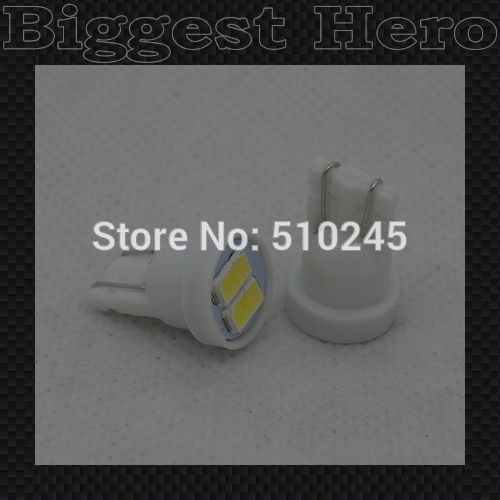 100X auto T10 LED Bulb 5630 2 SMD white color Car Side Wedge Light Lamp Tail Light 12V free shipping
