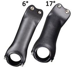 ZNIINO no logo stem 31.8mm 6/17 stopni Road/MTB pełne włókno węglowe wynika części rowerowe 70/80/90/100/110/120/130 wspornik rowerowy czarny w Mostki rowerowe od Sport i rozrywka na