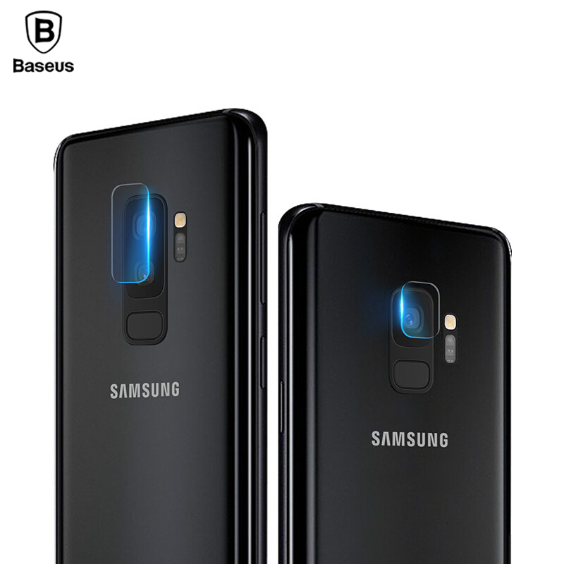 Baseus Screen Protector Tempered Glass For Samsung Galaxy S9 S9 Plus Camera Lens Glass Film For Galaxy S9 S9+ Back Len Film 2PCS