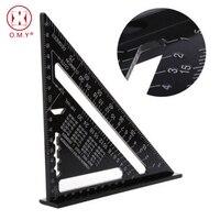 Треугольная измерительная линейка набор ручных инструментов метрический алюминиевый сплав метрический/дюймовый квадратный кровельный тр...
