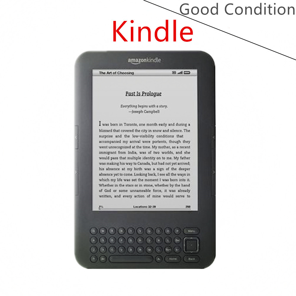 Good Condition Kindle 3 Eink Ebook Reader Keyboard Ink Screen 4gb E Book  With