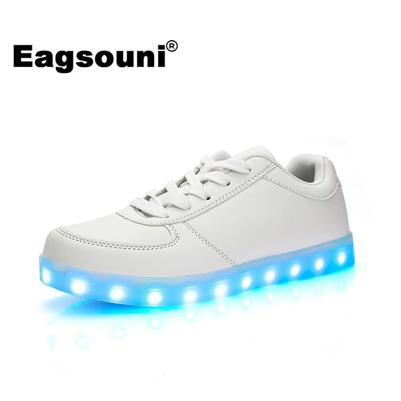 Men's Shoes Feiyitu Led Luminous Shoes For Men Fashion Light Up Casual Male 11 Colors Usb Charge New Simulation Sole Glowing Man Sneakers