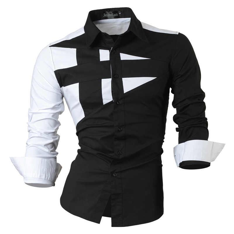cbb28901c47 2019 весна осень особенности рубашки мужские повседневные джинсы рубашка  новое поступление с длинным рукавом Повседневные Slim