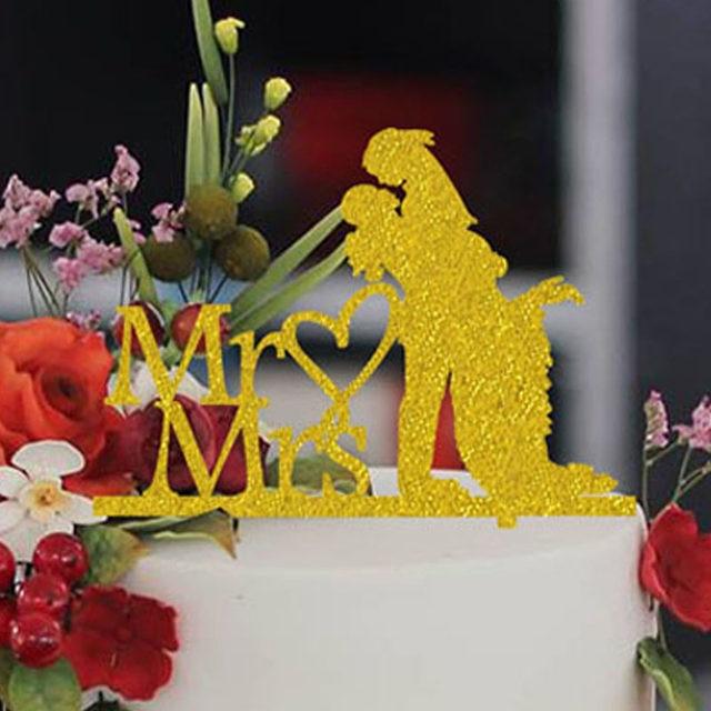 Online Shop Fancy Mr & Mrs Wedding Cake Toppers Romantic Wedding ...