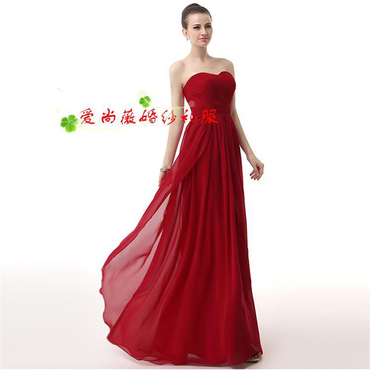 New arrival Red party Sweetheart Burgundy Pregnant woman   dress     Bridesmaid     Dress   For Wedding party
