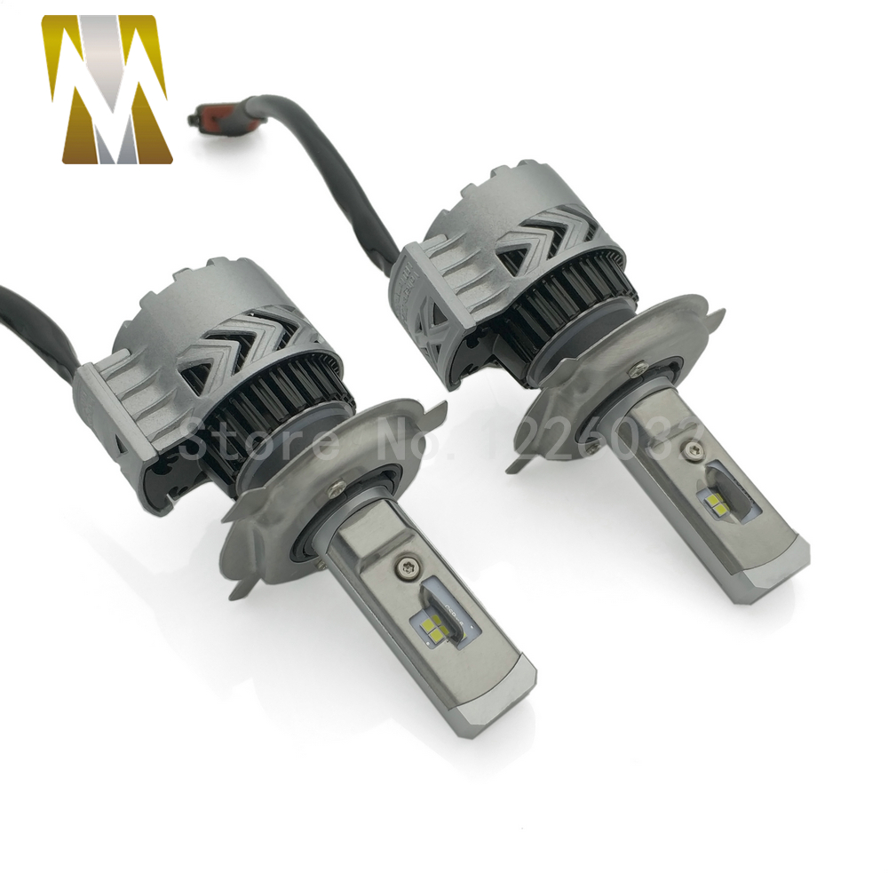 CSP Chips Car LED Headlight Bulbs Kit H4 Hi/Lo Beam Headlamps H7 H8 H1 H11 9005 6000K White 12V Halogen Replacement Auto Lamp  1 pair dc 9 36v h4 cob 80w led car headlight kit hi lo beam bulbs 6000k