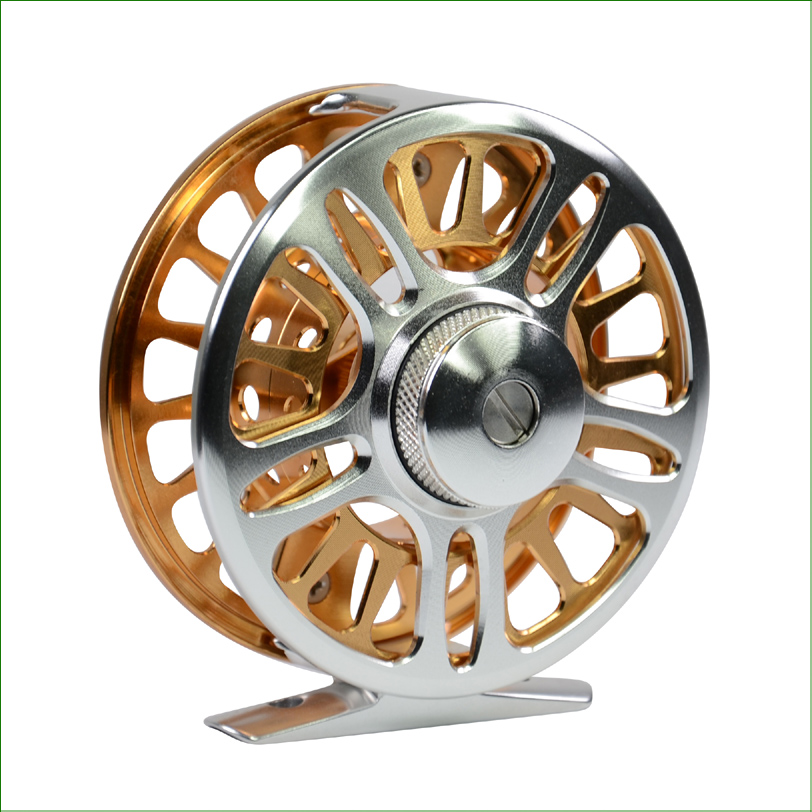 FC Model High Quality CNC Machined Aluminium Full Metal 3 size 3/4# 5/6# 7/8#  Fly Fishing Reel Micro Adjusting Drag Fly Reel