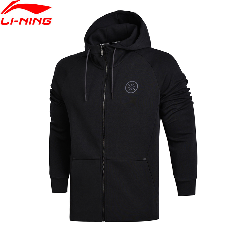 Li-Ning Men Wade Sweaters Regular Fit Zip Hoodie Jackets Interlock Knit Fitness Comfort LiNing Sports Sweaters AWDN097 MWW1372 li ning men wade short down jacket at proof wind comfort lining winter jackets aymm183 mwy267