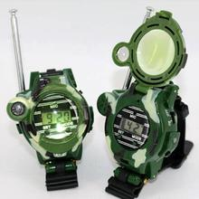 2 Pcs in 1 Set Children Plastic Camouflage Walkie Talkie Kids Watch Outdoor Toys Interphone Christmas Gifts Parent-child toys