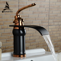 Luxury New Style Bathroom Basin Sink Faucet Solid Brass Oil Rubbed Bronze Waterfall Tap Water Mixer Torneira Banheiro Lh 16913